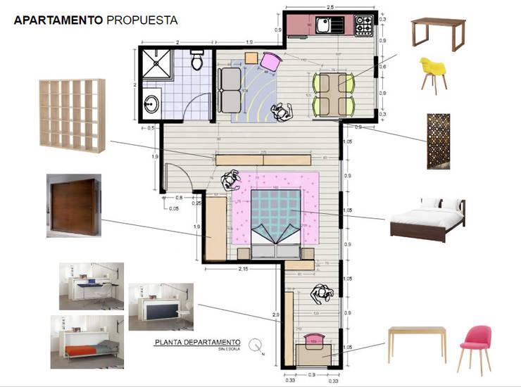 Diseño Interiores Departamento - Toronto Canada:  de estilo  por Super A Studio