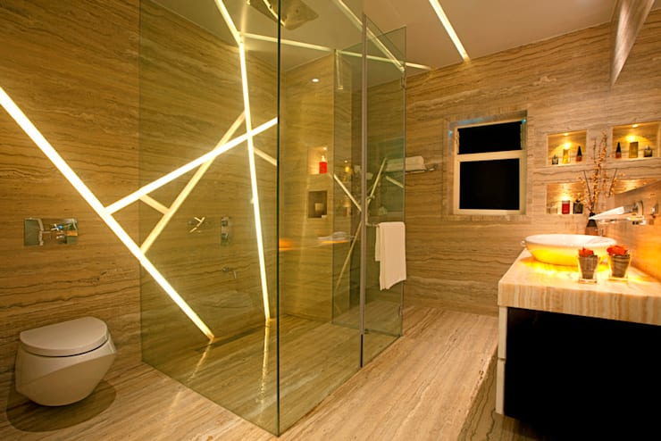 Indra hira bungalow:  Bathroom by Innerspace