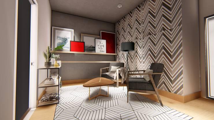 Reading / Lounge area :  Study/office by LI A'ALAF ARCHITECT