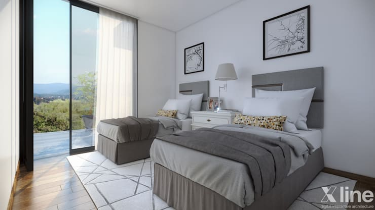 Neper by Xline 3D:  Bedroom by Xline 3D Digital Architecture