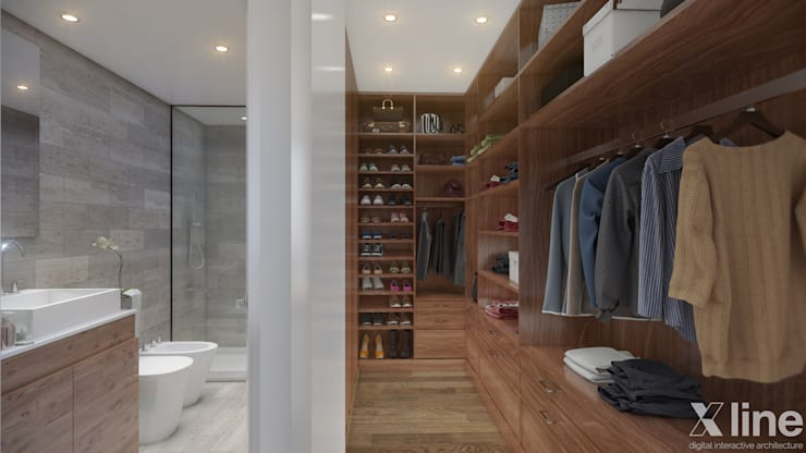 Neper by Xline 3D:  Dressing room by Xline 3D Digital Architecture