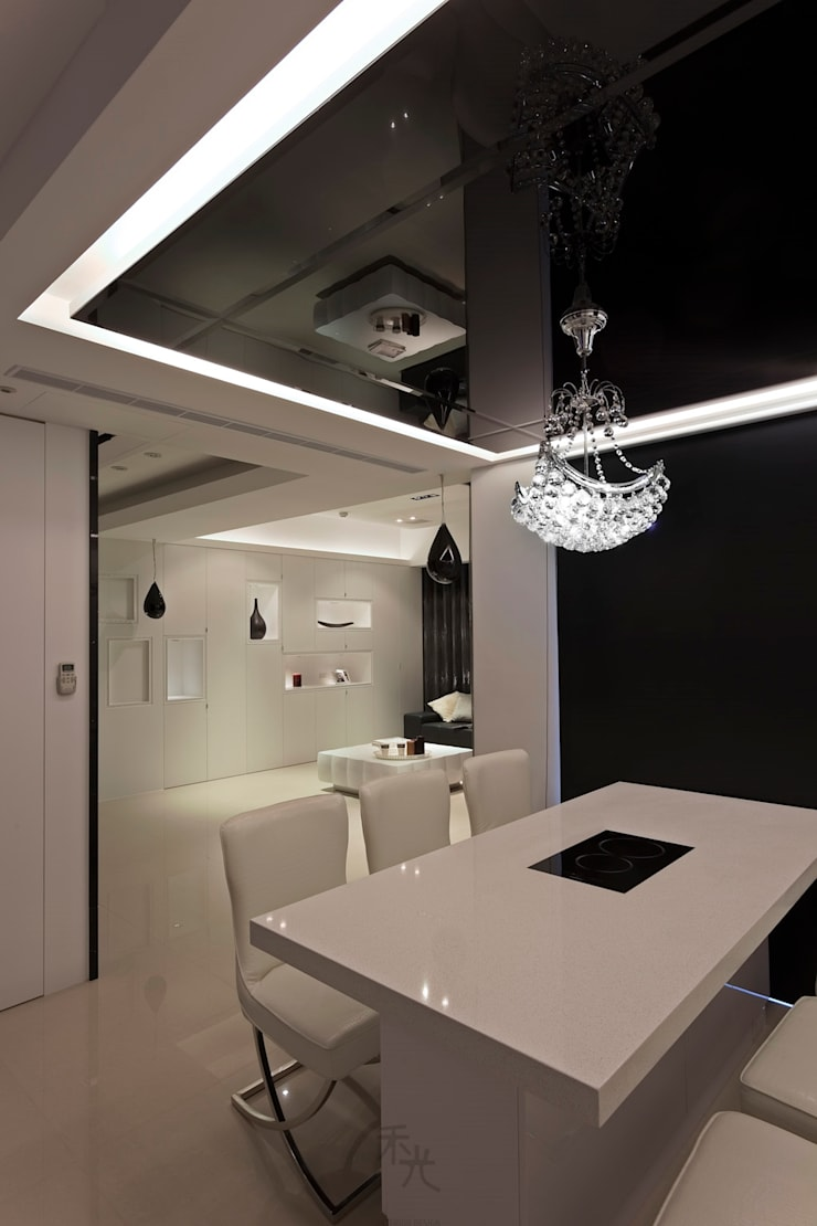 黑白精品‧極致混搭:  餐廳 by 禾光室內裝修設計 ─ Her Guang Design