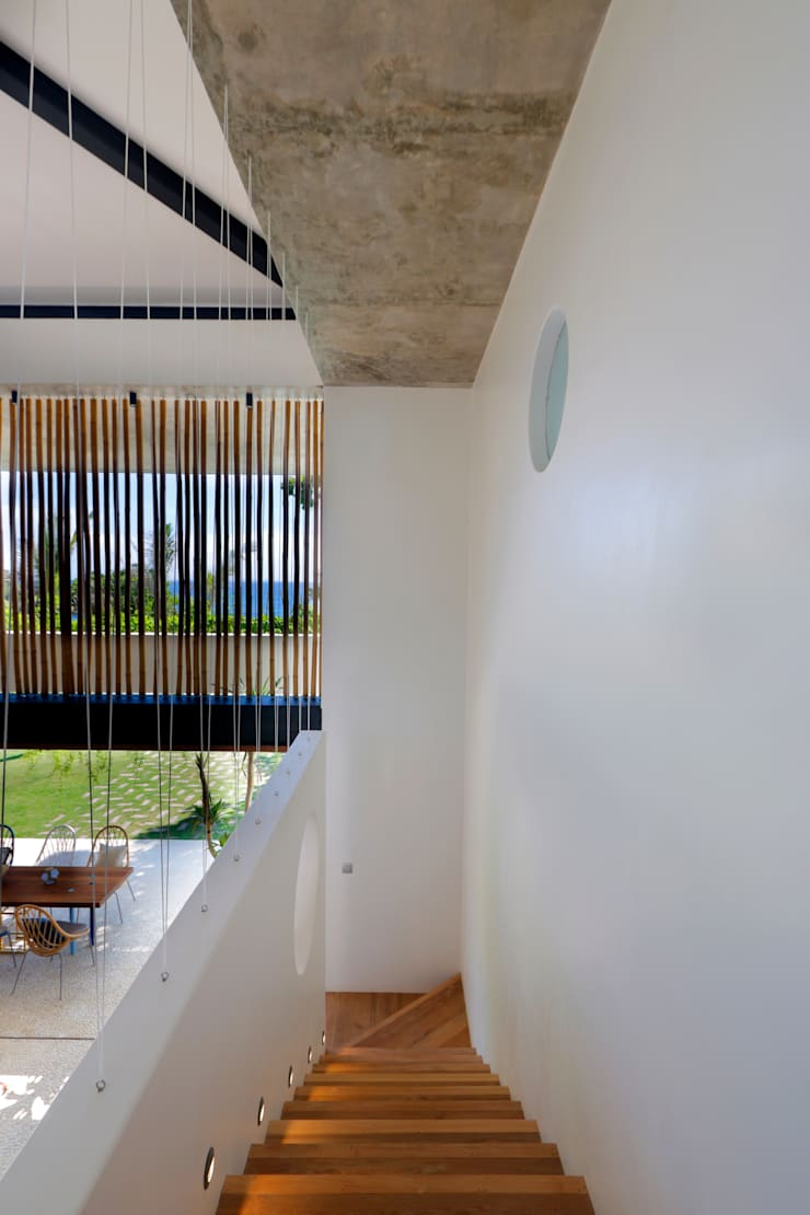 Seascape Villa Stairs by Word of Mouth House Tropical
