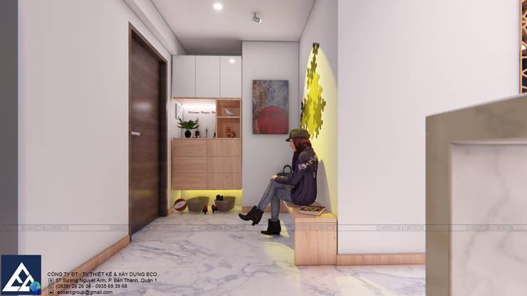 Thiết kế & Thi công Nội Thất Căn hộ – GoldView Quận 4:  Cửa ra vào by Công ty ĐT-TV Thiết Kế & Xây Dựng ECO