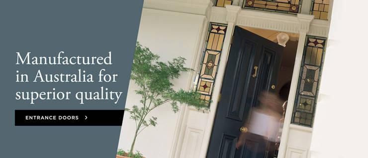 Entrance Doors:  Dining room by Armadale Doors & Leadlights ,