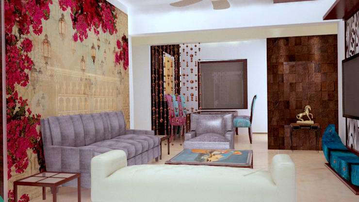 Residential Interior Projects:  Living room by deZinebox
