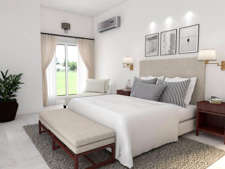 Obra Club de campo pueyrredón: Dormitorios de estilo  por Bhavana