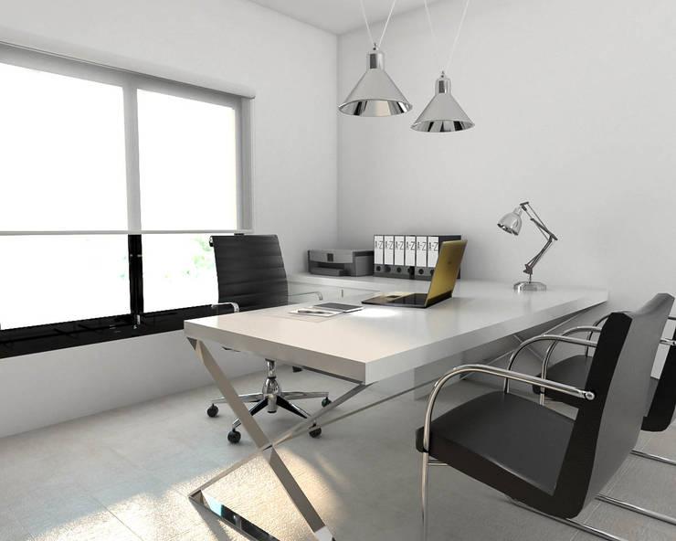 Obra Oficina Av. Congreso: Estudios y oficinas de estilo  por Bhavana,Industrial