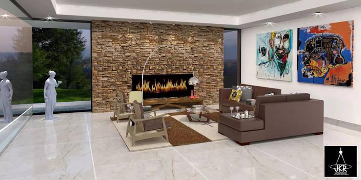 Salas / recibidores de estilo moderno por JKR arquitetura e Designer - Arquitetos Associados