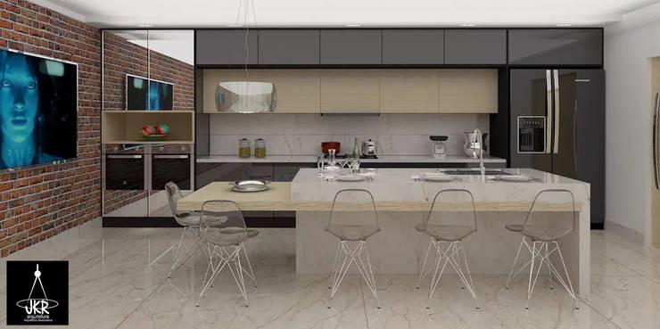 Cozinha Moderna: Cozinhas  por JKR arquitetura e Designer - Arquitetos Associados
