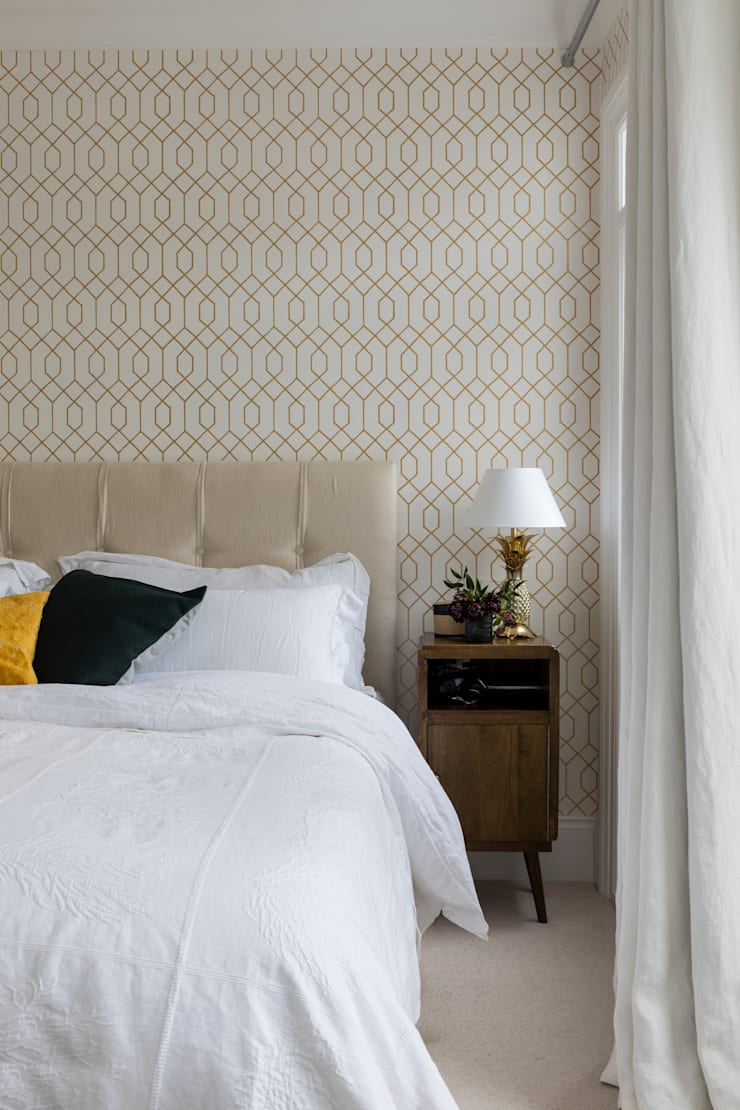 Chambre de style  par Imperfect Interiors,