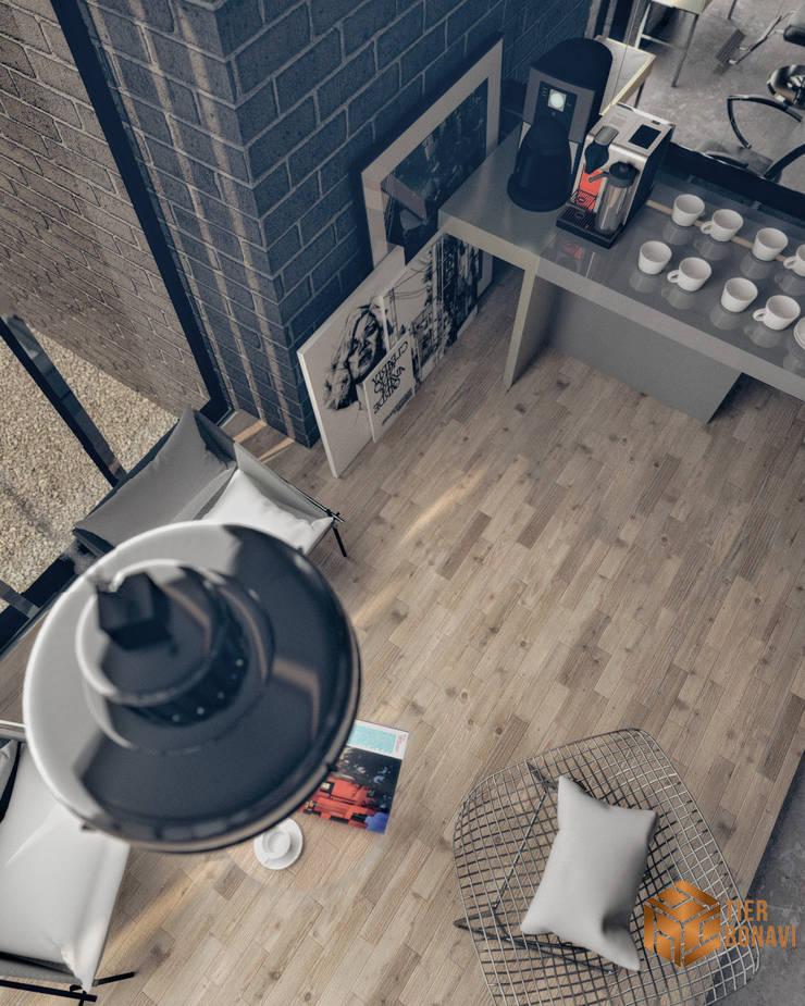 Barbershop ( Concept ) :  Kantor & toko by Tierbonavi