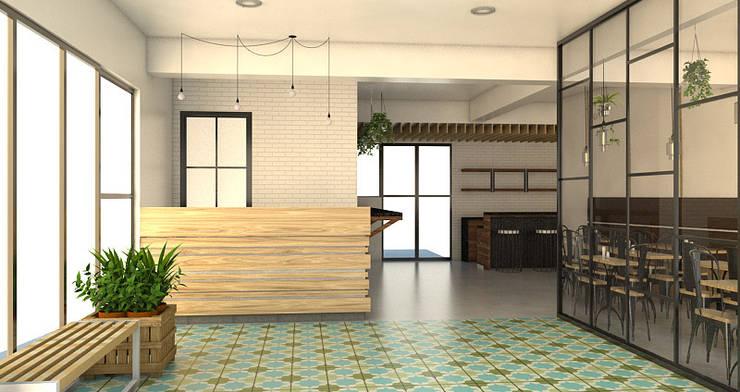 Garden themed Restaurant—Restaurant Renovation:   by Zhardei Alyson Architect