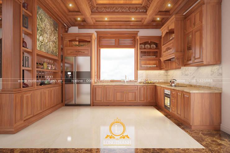 Dự án thiết kế nội thất biệt thự Bắc Ninh:  Tủ bếp by Nội thất Long Thành