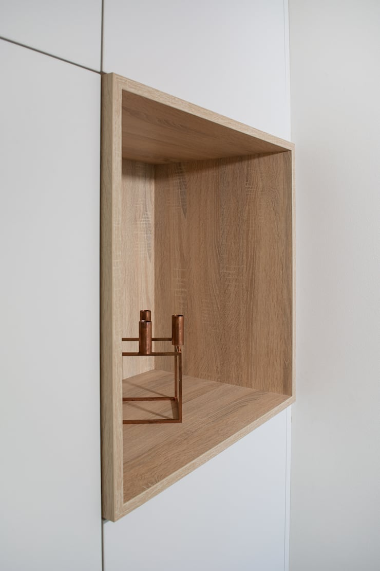 detail van de hoekkast:  Woonkamer door Stefania Rastellino interior design