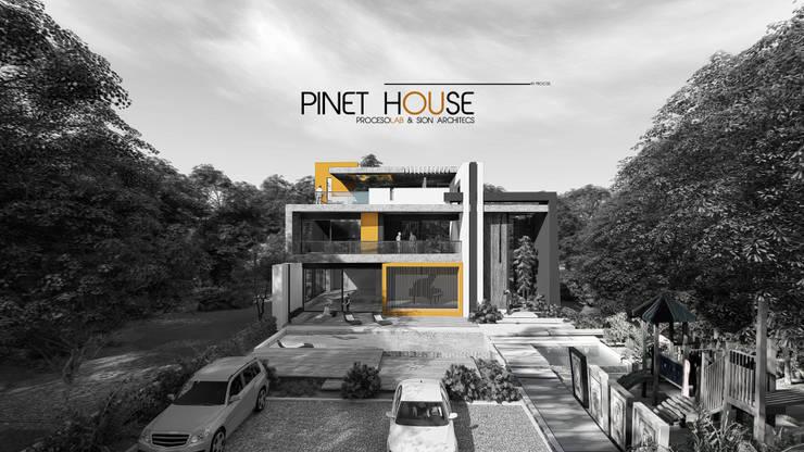 PINET HOUSE.---- .  PROCESOLAB  : Casas de estilo  por PROCESOLAB