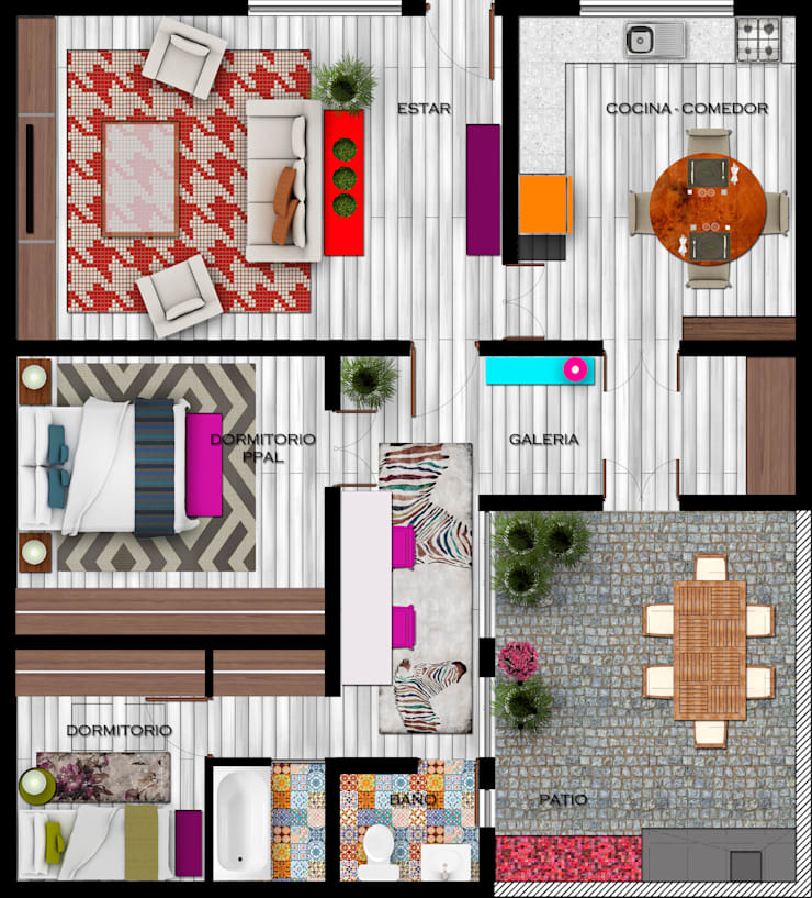 Planta de Arquitectura :  de estilo  por EnVoga