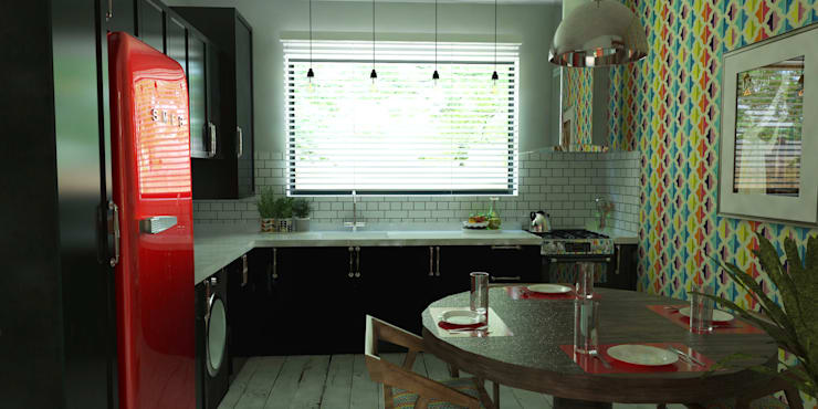 Cocina Comedor: Cocinas equipadas de estilo  por EnVoga