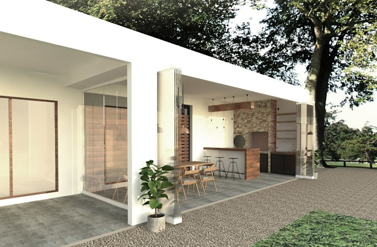 Quincho : Terrazas  de estilo  por EnVoga