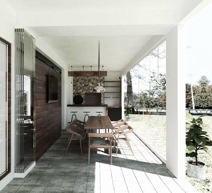 Quincho: Terrazas  de estilo  por EnVoga