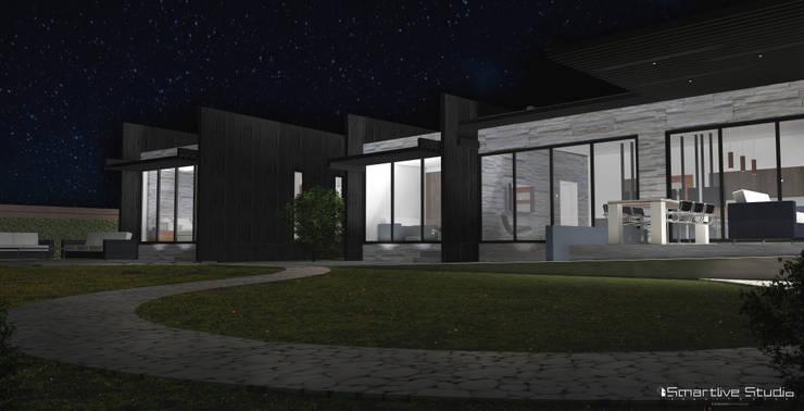 Fachada posterior: Casas de estilo  por Smartlive Studio