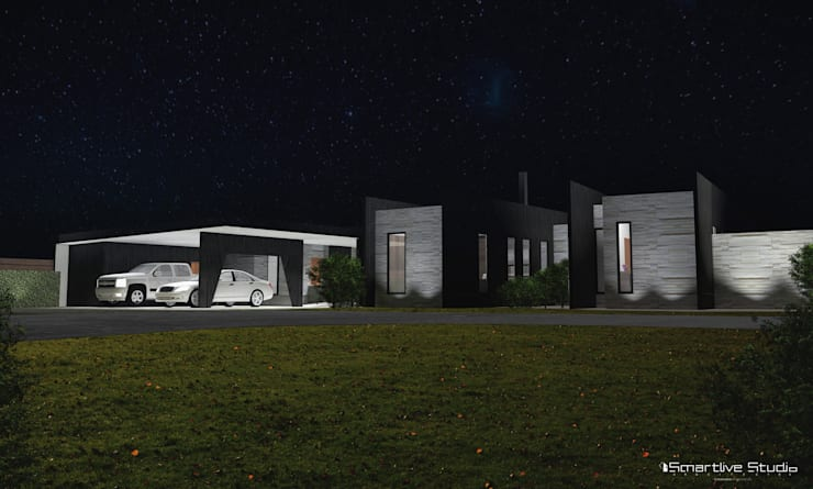 Fachada : Casas de estilo  por Smartlive Studio