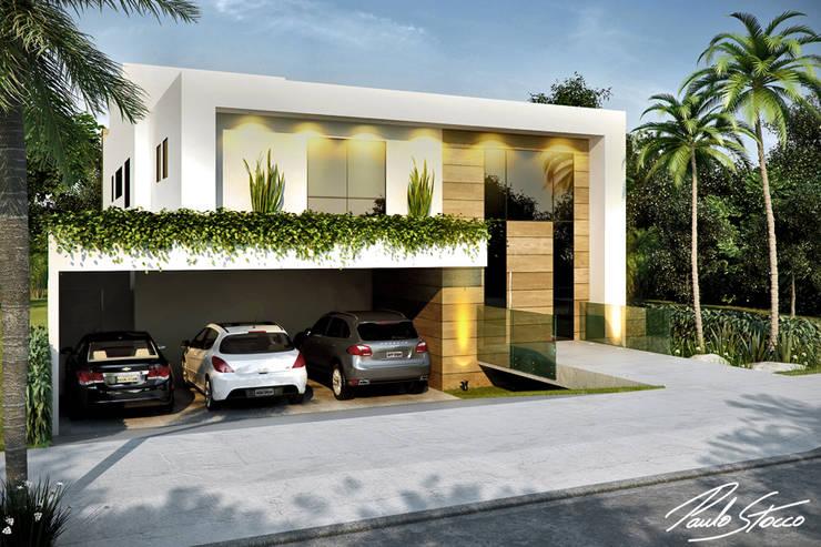 Fachada Frontal: Casas  por Paulo Stocco Arquiteto