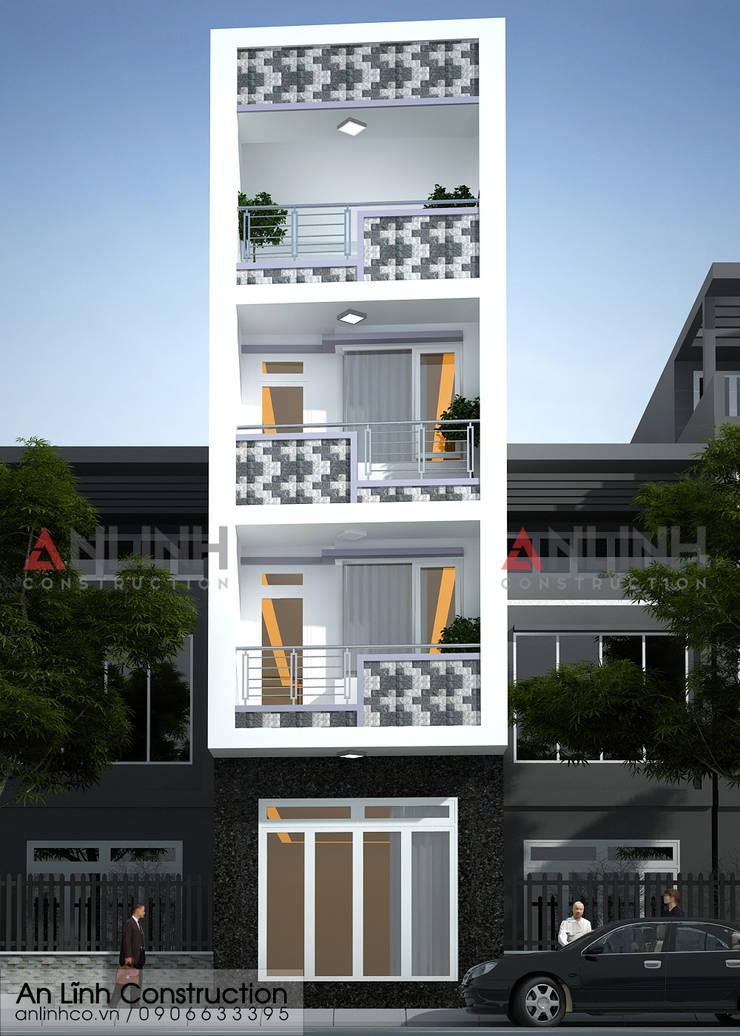 Mẫu nhà phố  – CHIÊU HẢI HÙNG:   by CÔNG TY THIẾT KẾ XÂY DỰNG AN LĨNH