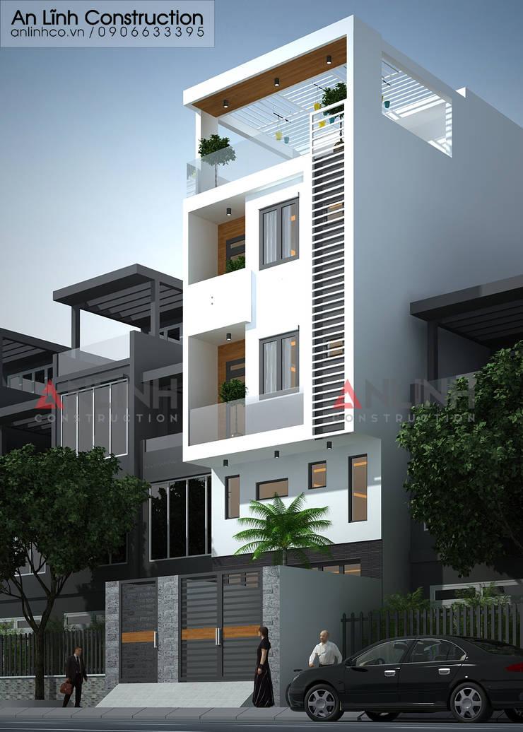 Mẫu nhà phố - LÊ TRUNG HOA:   by CÔNG TY THIẾT KẾ XÂY DỰNG AN LĨNH