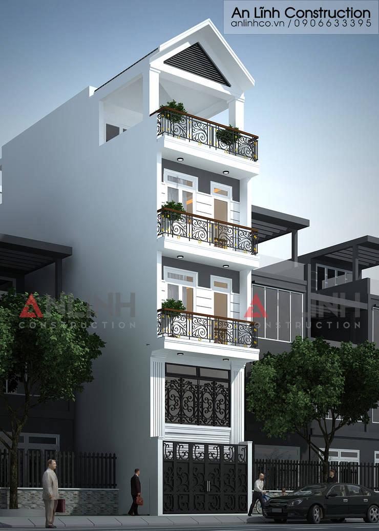 Mẫu nhà phố - TRƯƠNG KIM TẤN:   by CÔNG TY THIẾT KẾ XÂY DỰNG AN LĨNH
