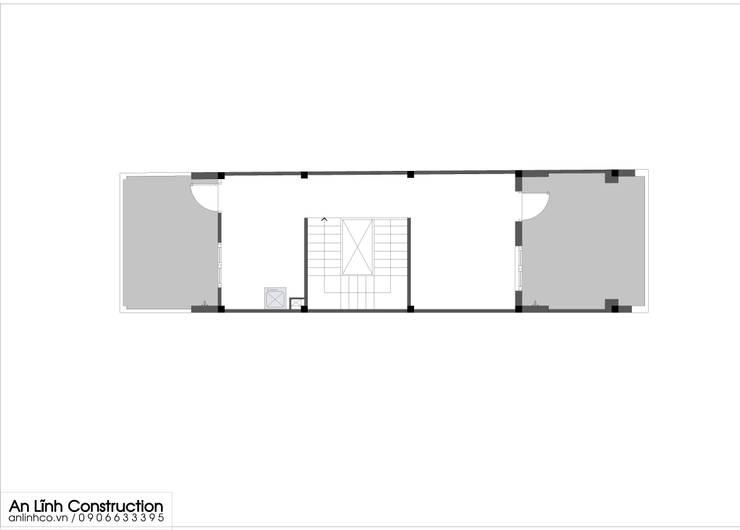 Mẫu nhà phố – TRƯƠNG KIM TẤN:   by CÔNG TY THIẾT KẾ XÂY DỰNG AN LĨNH