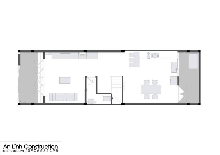 Mẫu nhà phố –  TRẦN NGUYỄN ANH VŨ:   by CÔNG TY THIẾT KẾ XÂY DỰNG AN LĨNH