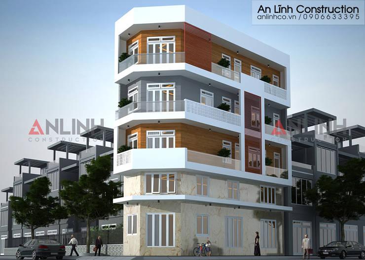 Mẫu nhà phố - NGUYỄN HUY HÒA:   by CÔNG TY THIẾT KẾ XÂY DỰNG AN LĨNH