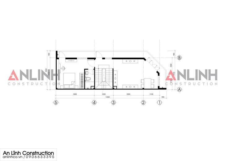 Mẫu nhà phố – NGUYỄN HUY HÒA:   by CÔNG TY THIẾT KẾ XÂY DỰNG AN LĨNH
