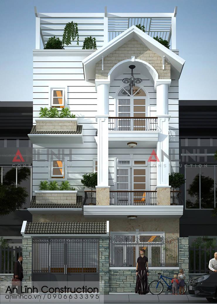 Mẫu nhà phố - NGUYỄN VĂN CƯƠNG:   by CÔNG TY THIẾT KẾ XÂY DỰNG AN LĨNH