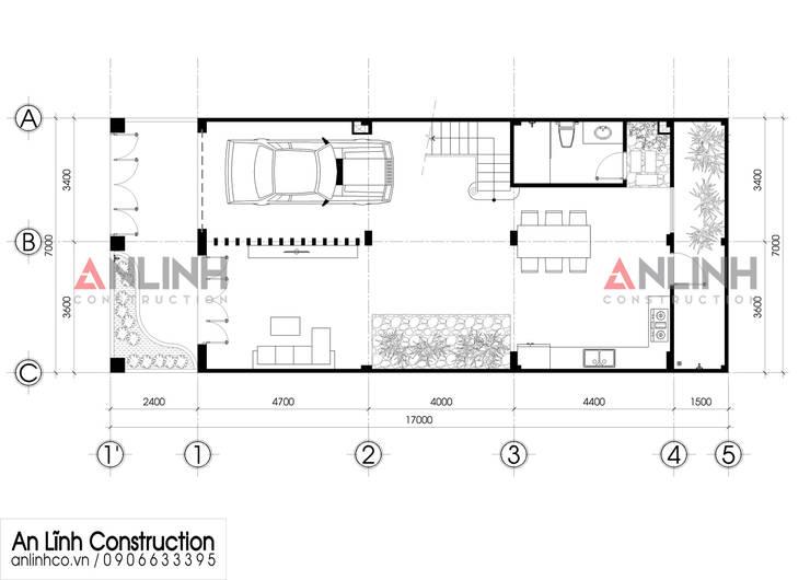 Mẫu nhà phố – NGUYỄN VĂN CƯƠNG:   by CÔNG TY THIẾT KẾ XÂY DỰNG AN LĨNH