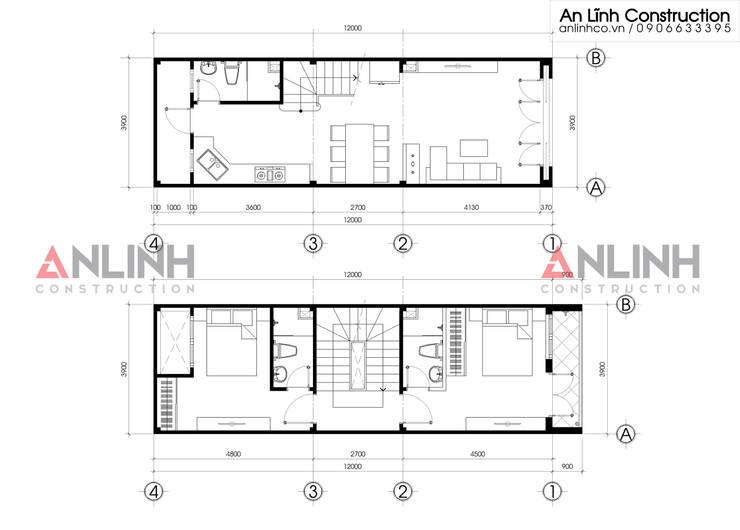 Mẫu nhà phố – TRẦN ÁNH TUYẾT:   by CÔNG TY THIẾT KẾ XÂY DỰNG AN LĨNH