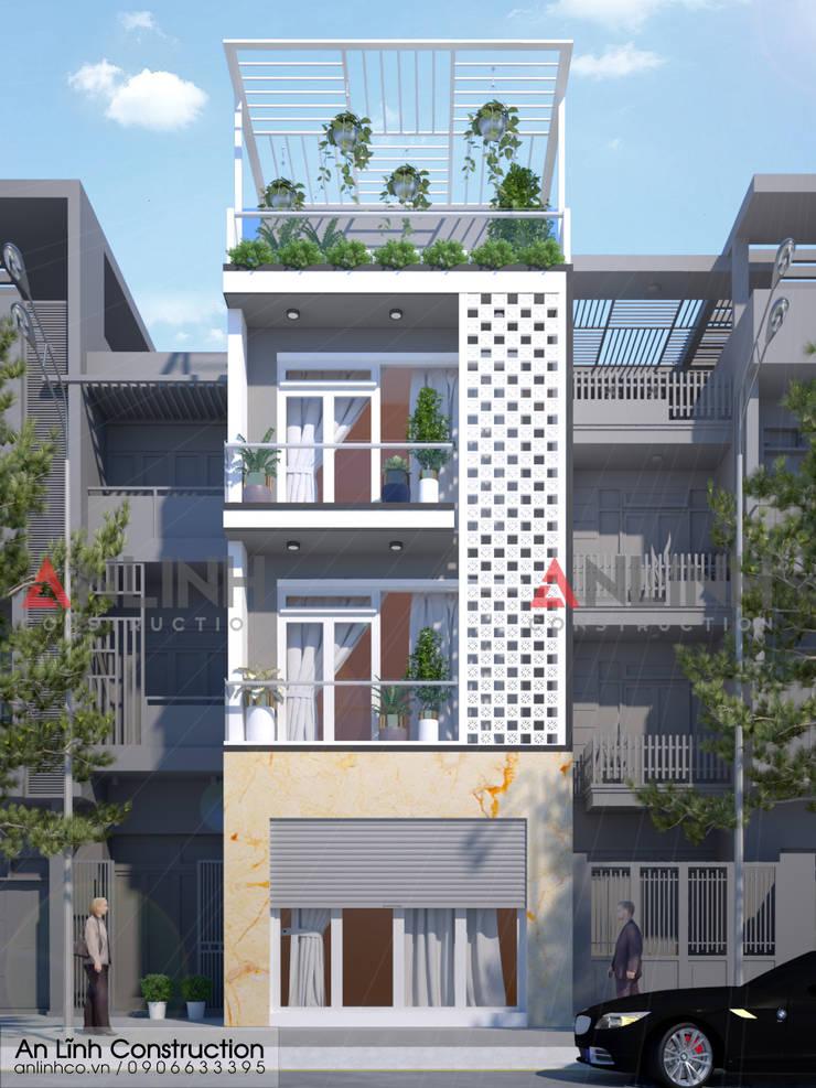 Mẫu nhà phố - LÊ CÔNG TẠO:   by CÔNG TY THIẾT KẾ XÂY DỰNG AN LĨNH