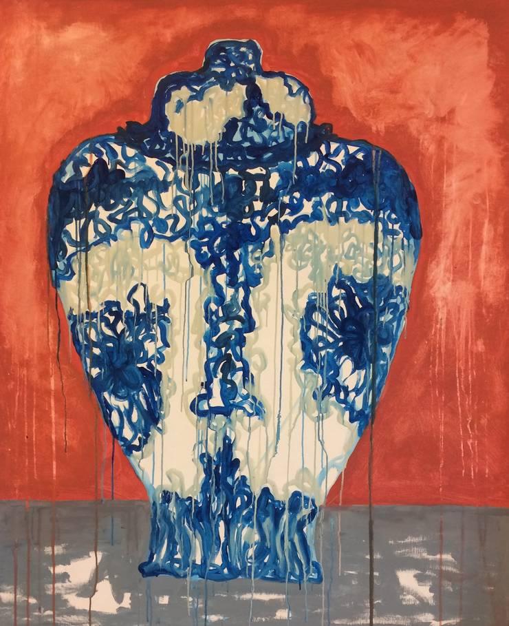 Delfts blauwe Vaas 1 :  Kunst  door Sophie Walraven