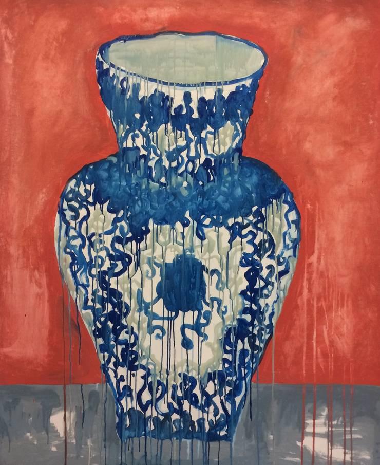 Delfts blauwe Vaas 2 :  Kunst  door Sophie Walraven