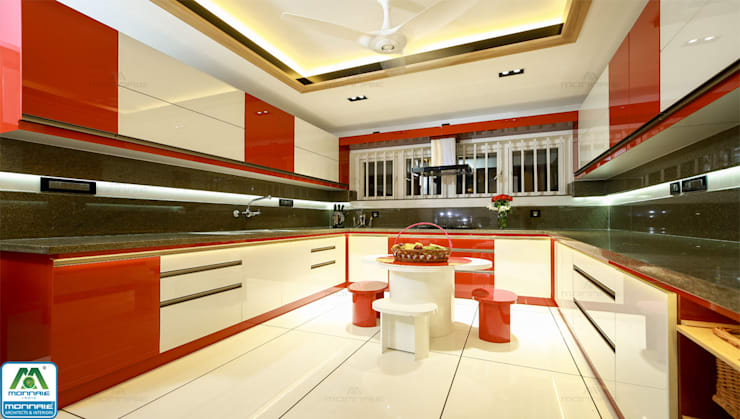 Ultra-Modern Designs: country Kitchen by Premdas Krishna