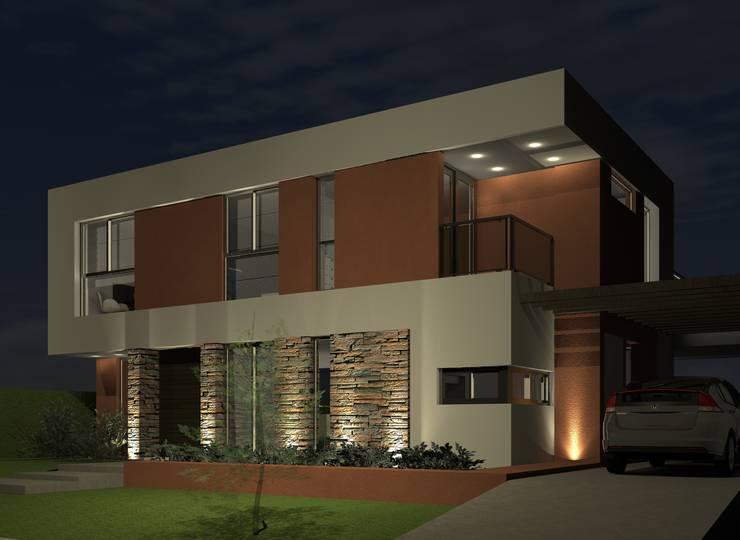 Fachada 2: Casas unifamiliares de estilo  por BM3 Arquitectos,