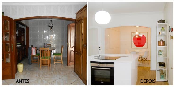 Remodelação Total Cozinha em Paredes :   por Tangerinas e Pêssegos - Design de Interiores & Decoração no Porto