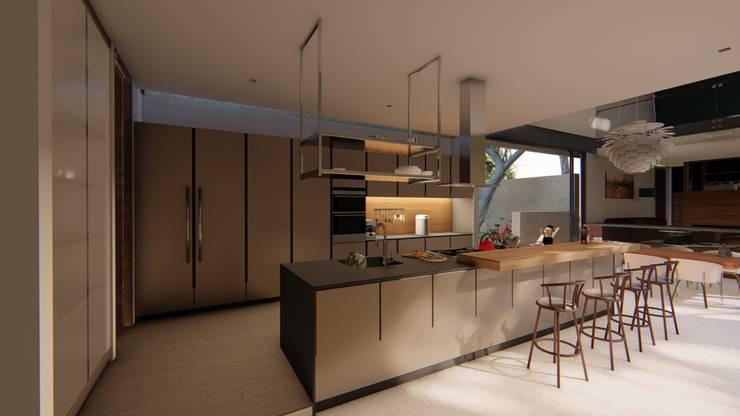Cucina attrezzata in stile  di Mimesis Arquitectura y diseño , Moderno Metallo