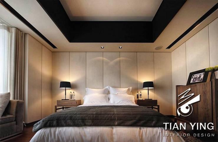 住宅空間設計-私人領域/主臥室:  臥室 by 天英設計工程