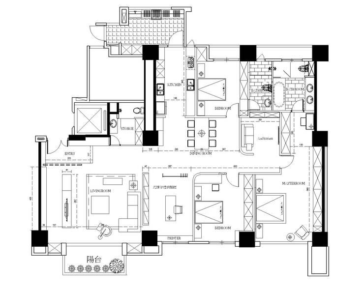 平面圖分享:   by 台中室內設計-築采設計