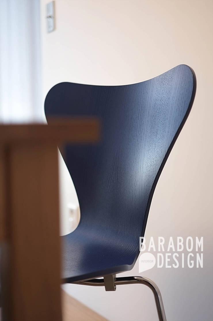 묵동 16평 미니멀인테리어: 바라봄디자인의  다이닝 룸