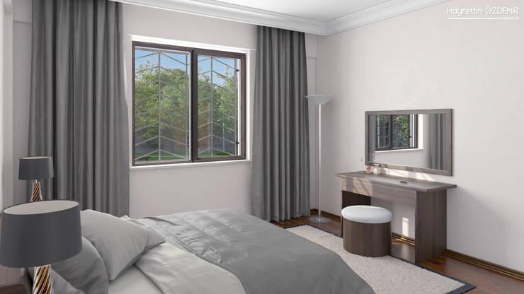 Dündar Design - 3D Mimari Görselleştirme – Yatak Odası: modern tarz Yatak Odası