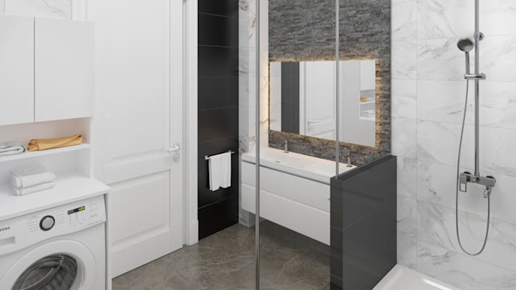Baños de estilo  por Dündar Design - Mimari Görselleştirme