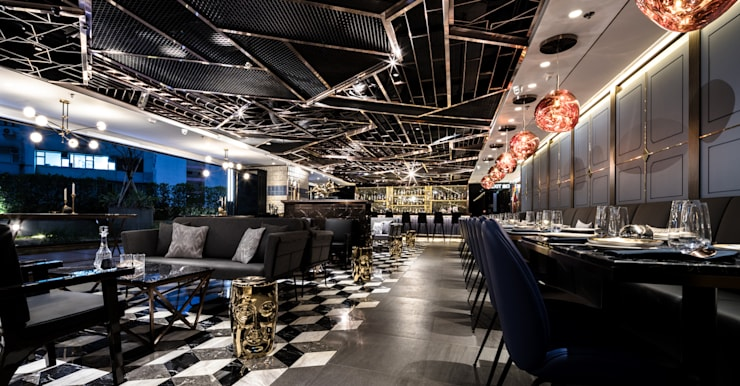 Cozi Lounge:  Bars & clubs by Artta Concept Studio, Modern Metal